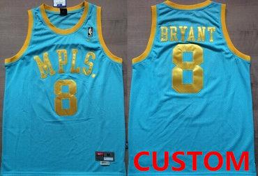 Custom Los Angeles Lakers MPLS Blue Swingman Throwback Jersey
