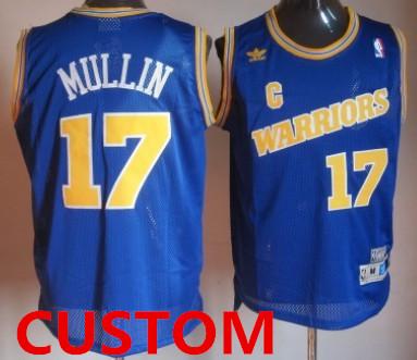 Custom Golden State Warriors 1988-89 Blue Swingman Throwback Jersey