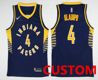 288b84c9484 Custom Men's Indiana Pacers New Navy Blue 2017-2018 Nike Swingman Stitched NBA  Jersey