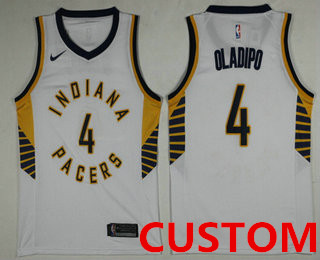 2289770d44f Custom Men's Indiana Pacers New White 2017-2018 Nike Swingman Stitched NBA  Jersey