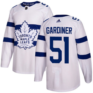 Adidas Toronto Maple Leafs #51 Jake Gardiner White Authentic 2018 Stadium Series Stitched NHL Jersey