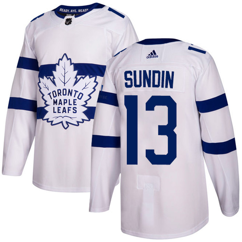 Adidas Toronto Maple Leafs #13 Mats Sundin White Authentic 2018 Stadium Series Stitched NHL Jersey