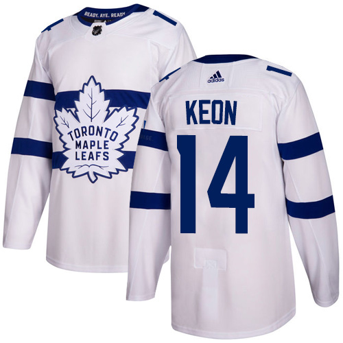 Adidas Toronto Maple Leafs #14 Dave Keon White Authentic 2018 Stadium Series Stitched NHL Jersey