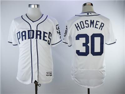 Men's San Diego Padres #30 Eric Hosmer White Cool Base Jersey