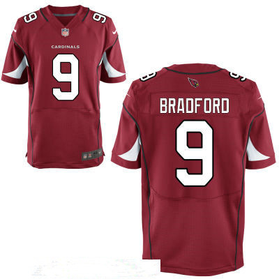 Men's Arizona Cardinals #9 Sam Bradford Red Team Color Stitched NFL Nike Elite Jersey