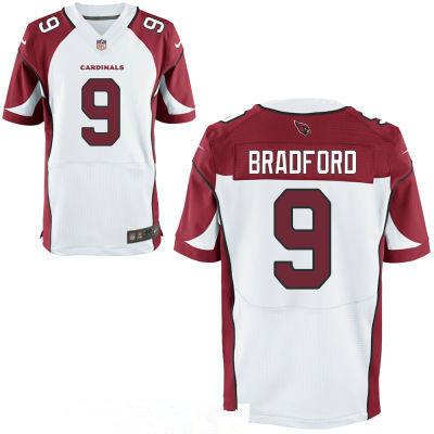 Men's Arizona Cardinals #9 Sam Bradford White Road Stitched NFL Nike Elite Jersey