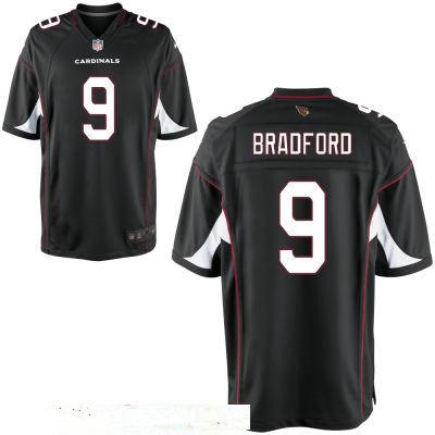 Men's Arizona Cardinals #9 Sam Bradford Black Alternate Stitched NFL Nike Elite Jersey