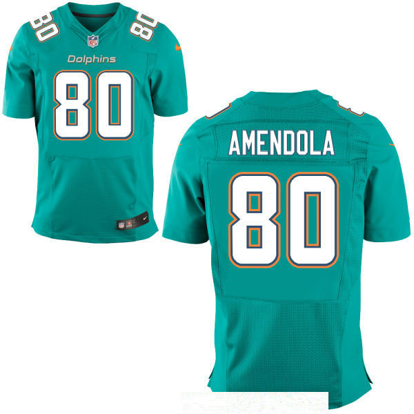 best loved 54a1a 67fd5 Men's Miami Dolphins #80 Danny Amendola Green Team Color ...