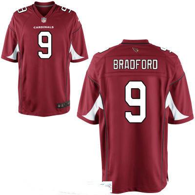 Men's Arizona Cardinals #9 Sam Bradford Red Team Color Stitched NFL Nike Game Jersey