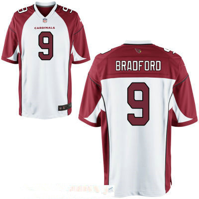 Men's Arizona Cardinals #9 Sam Bradford White Road Stitched NFL Nike Game Jersey