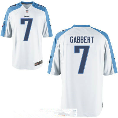 Men's Tennessee Titans #7 Blaine Gabbert White Road Stitched NFL Nike Game Jersey