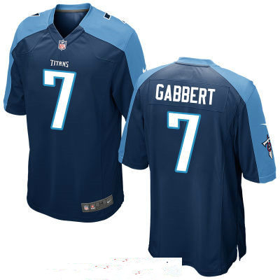 Men's Tennessee Titans #7 Blaine Gabbert Navy Blue Alternate Stitched NFL Nike Game Jersey