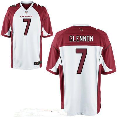 Men's Arizona Cardinals #7 Mike Glennon White Road Stitched NFL Nike Game Jersey