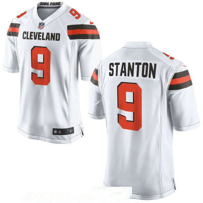 Men's Cleveland Browns #9 Drew Stanton White Road Stitched NFL Nike Game Jersey