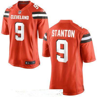 Men's Cleveland Browns #9 Drew Stanton Orange Alternate Stitched NFL Nike Game Jersey
