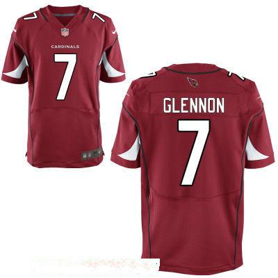 Men's Arizona Cardinals #7 Mike Glennon Red Team Color Stitched NFL Nike Elite Jersey