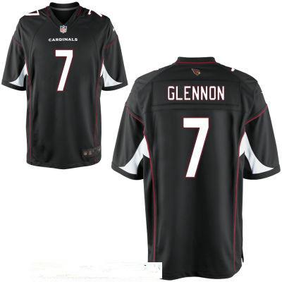 Men's Arizona Cardinals #7 Mike Glennon Black Alternate Stitched NFL Nike Elite Jersey