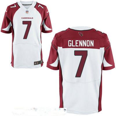 Men's Arizona Cardinals #7 Mike Glennon White Road Stitched NFL Nike Elite Jersey