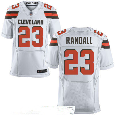 Men's Cleveland Browns #23 Damarious Randall White Road Stitched NFL Nike Elite Jersey