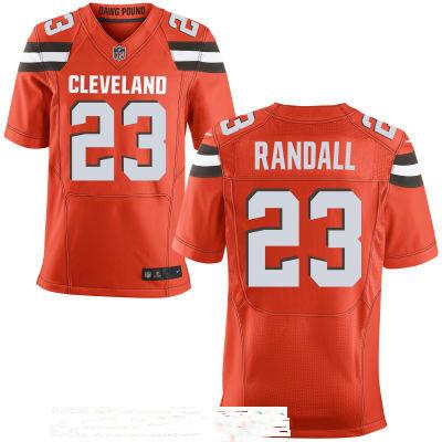 Men's Cleveland Browns #23 Damarious Randall Orange Alternate Stitched NFL Nike Elite Jersey