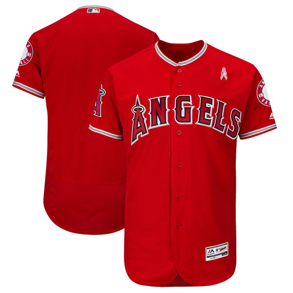 LA Angels of Anaheim Blank Red 2018 Mother's Day Flexbase Jersey