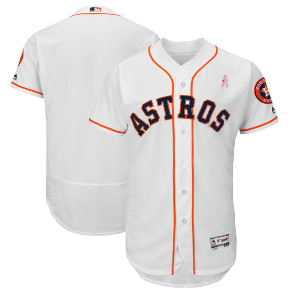 Houston Astros Blank White 2018 Mother's Day Flexbase Jersey
