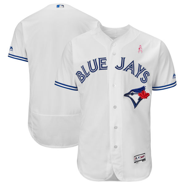 Toronto Blue Jays Blank White 2018 Mother's Day Flexbase Jersey
