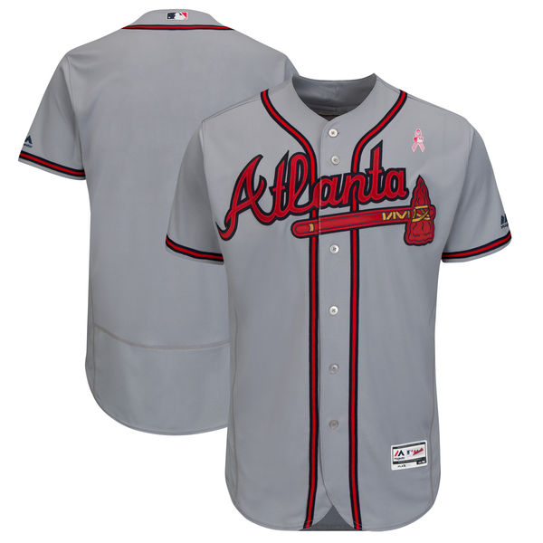 ... amazon atlanta braves blank gray 2018 mothers day flexbase jersey 0a6c8  91f62 45306370f