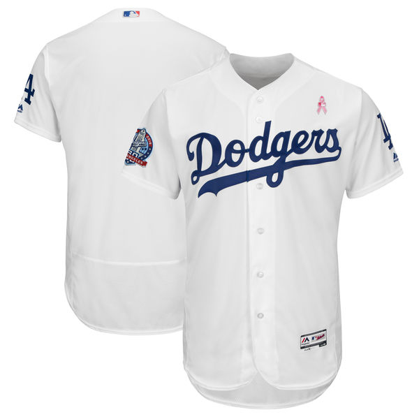 Los Angeles Dodgers Blank White 2018 Mother's Day Flexbase Jersey