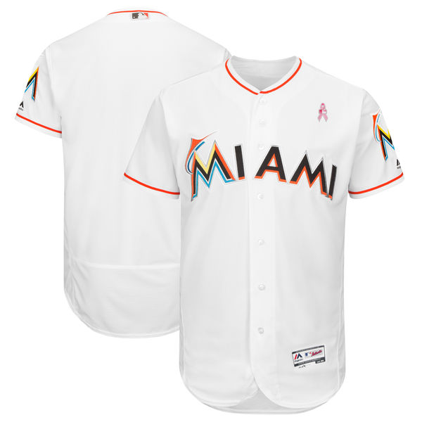 Miami Marlins Blank White 2018 Mother's Day Flexbase Jersey