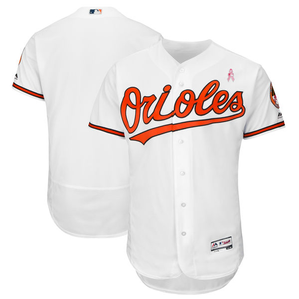 Baltimore Orioles Blank White 2018 Mother's Day Flexbase Jersey