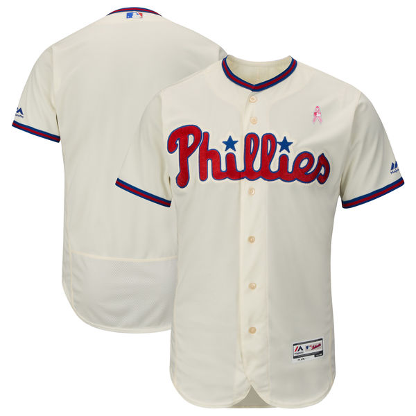 Philadelphia Phillies Blank Cream 2018 Mother's Day Flexbase Jersey
