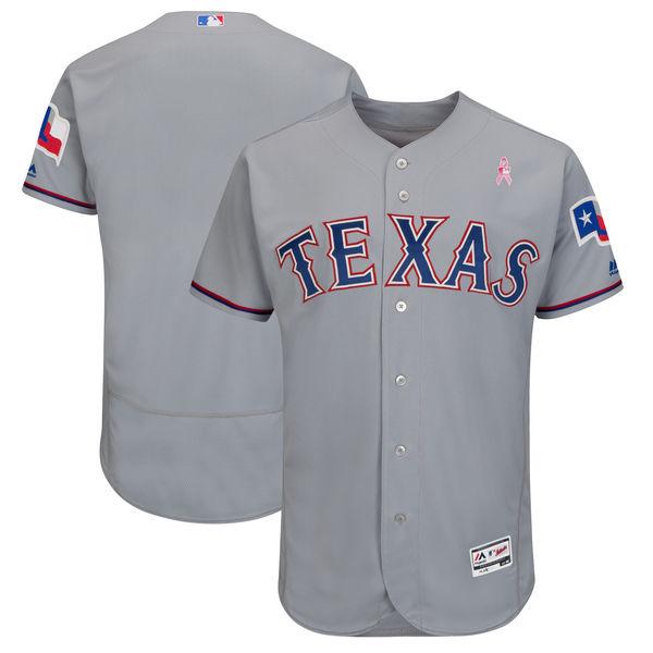 Texas Rangers Blank Gray 2018 Mother's Day Flexbase Jersey