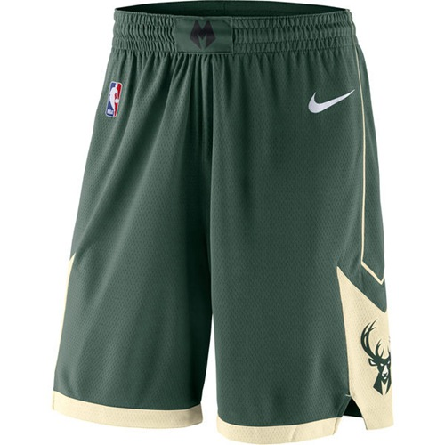 Men's Milwaukee Bucks Nike Green Icon Swingman Basketball Shorts
