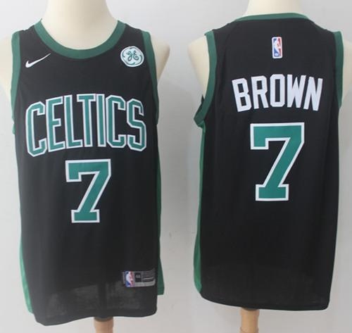 Nike Boston Celtics #7 Jaylen Brown Black NBA Swingman Statement Edition Jersey
