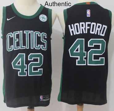 Nike Boston Celtics #42 Al Horford Black NBA Authentic Statement Edition Jersey