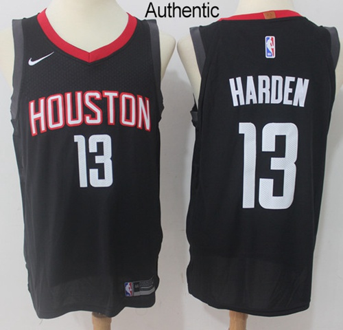 Nike Houston Rockets #13 James Harden Black NBA Authentic Statement Edition Jersey