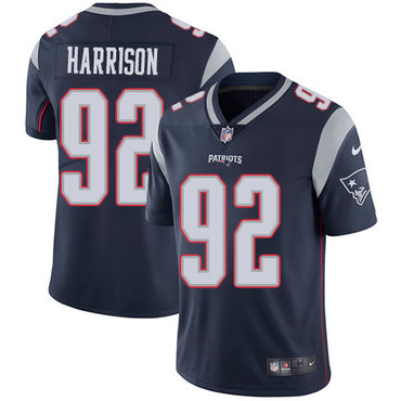 Nike New England Patriots #92 James Harrison Navy Blue Team Color Stitched NFL Vapor Untouchable Limited Jersey