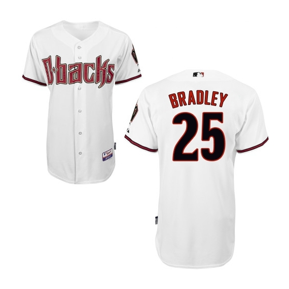 Arizona Diamondbacks #25 Archie Bradley Official White Men's Majestic Replica Home Cool Base MLB Jersey