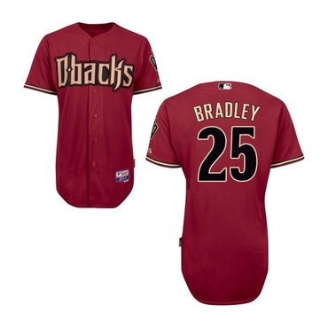 Arizona Diamondbacks #25 Archie Bradley Official Red Authentic Men's Majestic Alternate Cool Base Jersey