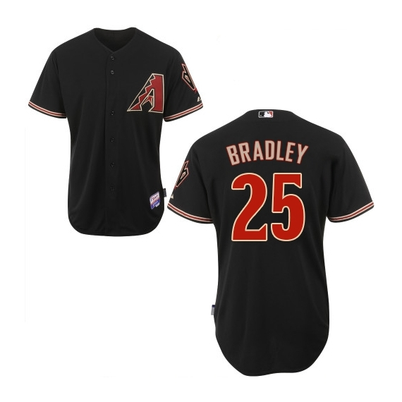 Arizona Diamondbacks #25 Archie Bradley Official Black Authentic Men's Majestic Alternate Home Cool Base MLB Jersey