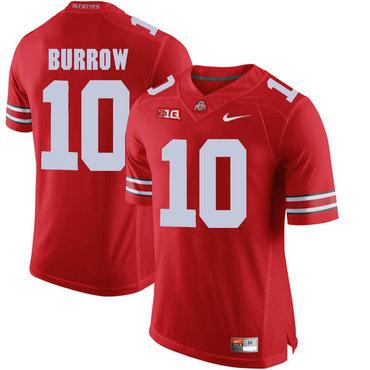 Ohio State Buckeyes 10 Joe Burrow Red College Football Jersey on ...