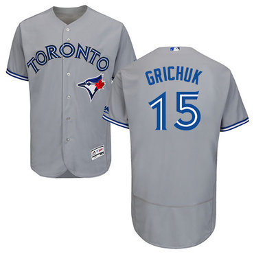 Toronto Blue Jays #15 Randal Grichuk Grey Flexbase Authentic Collection Stitched MLB Jersey