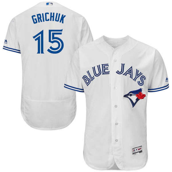 Toronto Blue Jays #15 Randal Grichuk White Flexbase Authentic Collection Stitched MLB Jersey