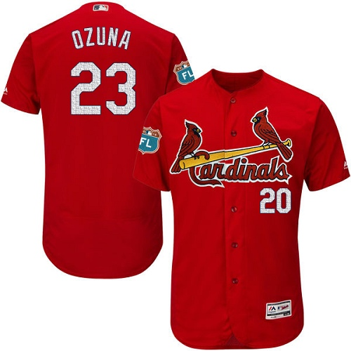 St. Louis Cardinals #23 Marcell Ozuna Red Flexbase Authentic Collection Stitched MLB Jersey