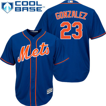 New York Mets #23 Adrian Gonzalez Blue New Cool Base Stitched MLB Jersey