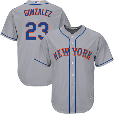 New York Mets #23 Adrian Gonzalez Grey New Cool Base Stitched MLB Jersey