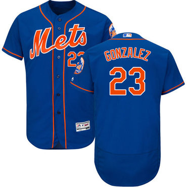 New York Mets #23 Adrian Gonzalez Blue Flexbase Authentic Collection Stitched MLB Jersey