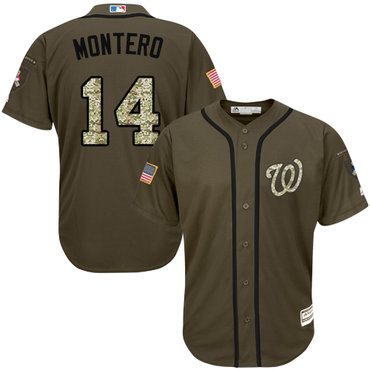 Washington Nationals #14 Miguel Montero Green Salute to Service Stitched MLB Jersey