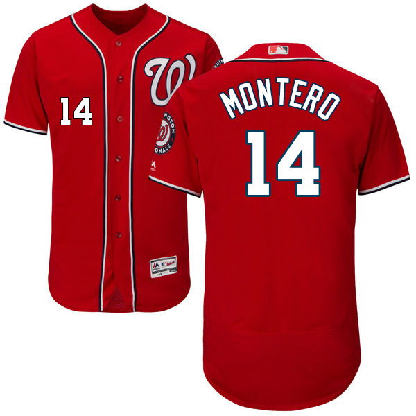 Washington Nationals #14 Miguel Montero Red Flexbase Authentic Collection Stitched MLB Jersey